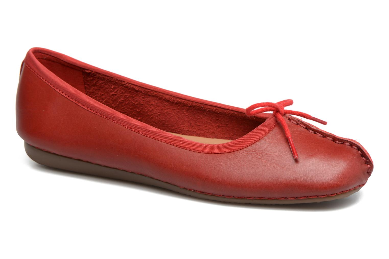 Ballet pumps Clarks Unstructured Freckle Ice Red detailed view/ Pair view
