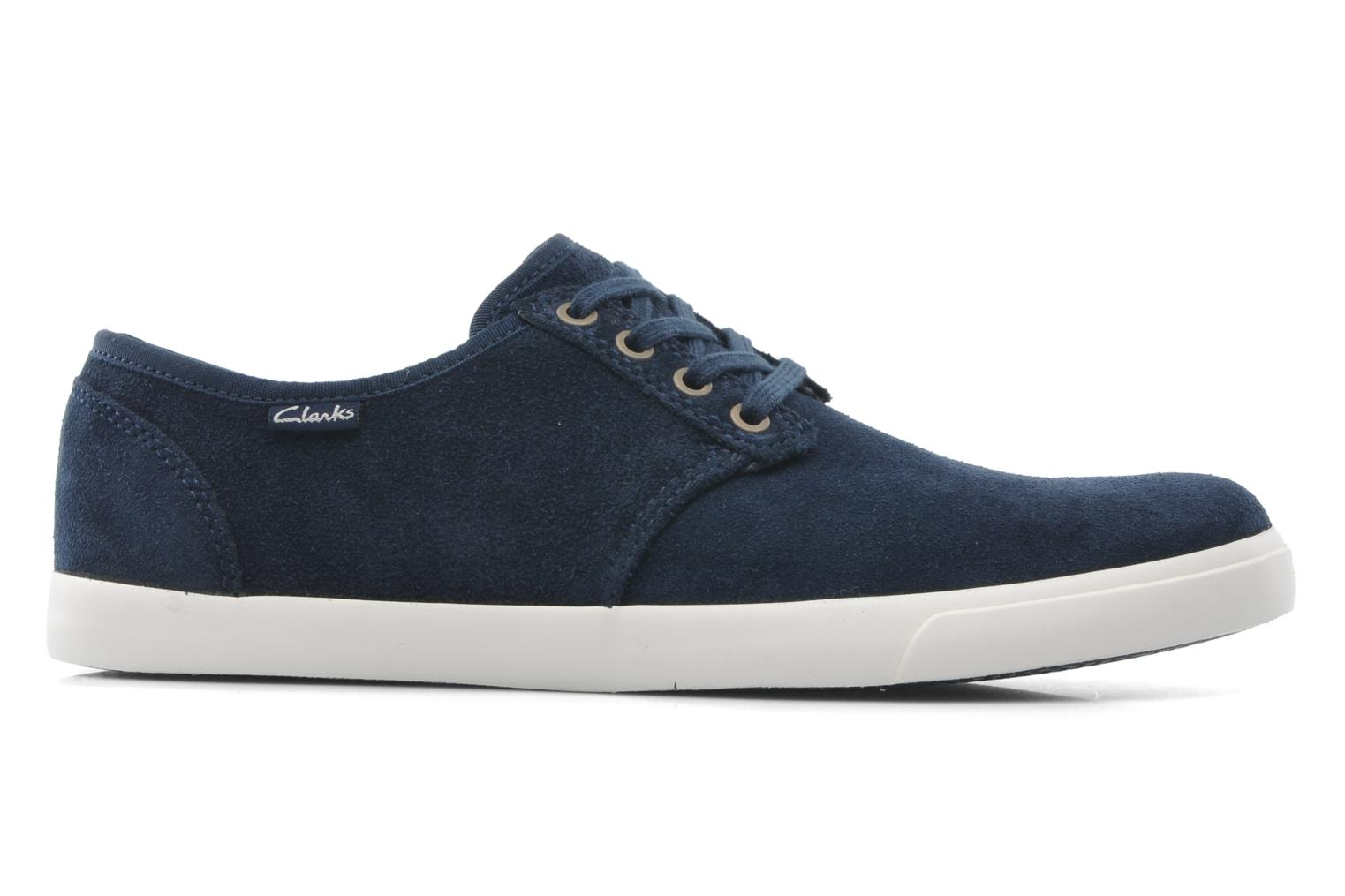 Lace-up shoes Clarks Torbay Lace Blue view from the right