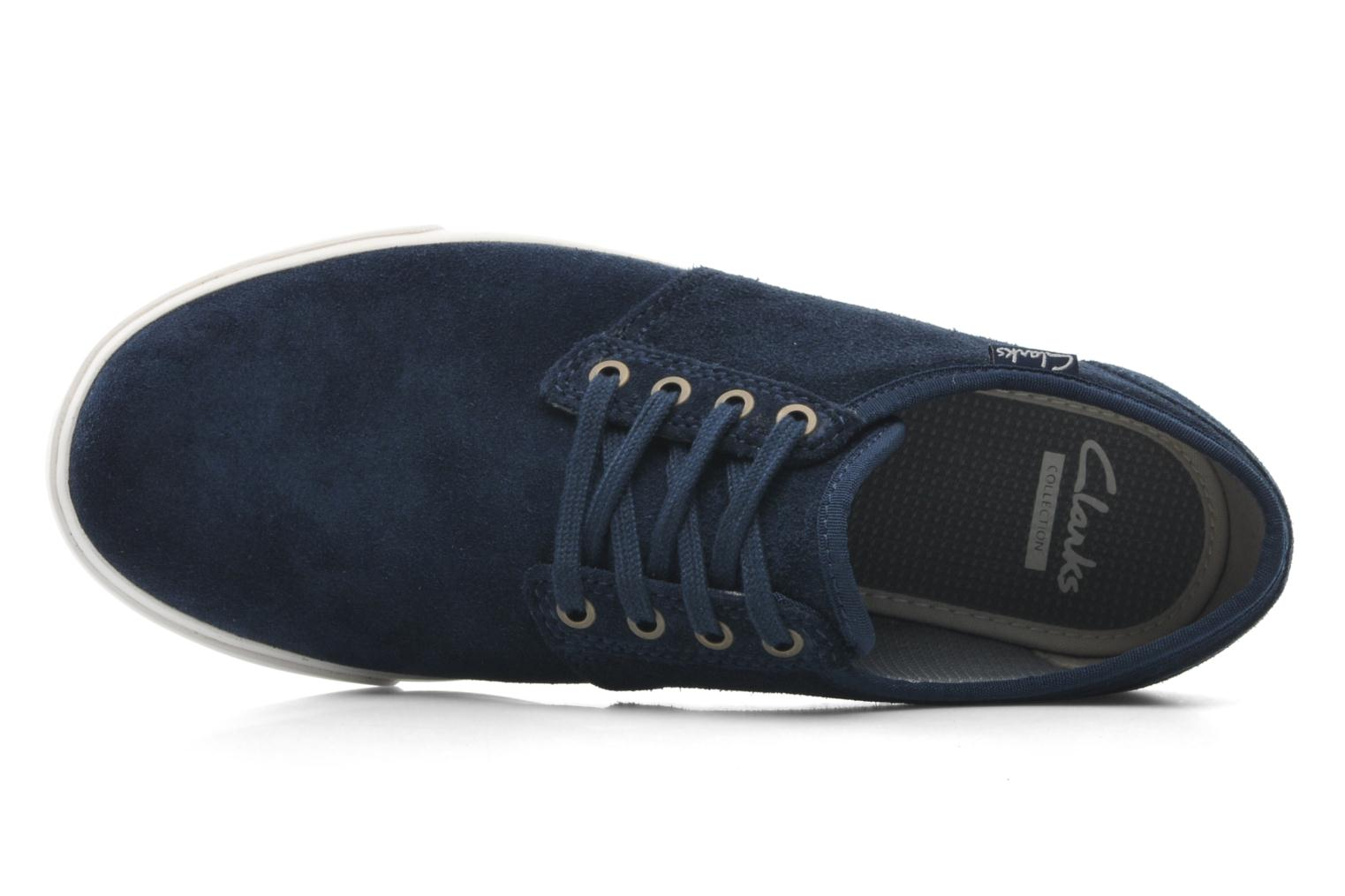 Lace-up shoes Clarks Torbay Lace Blue view from the left