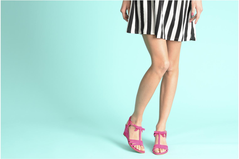 Sandales et nu-pieds Georgia Rose Luxy Vert vue bas / vue portée sac