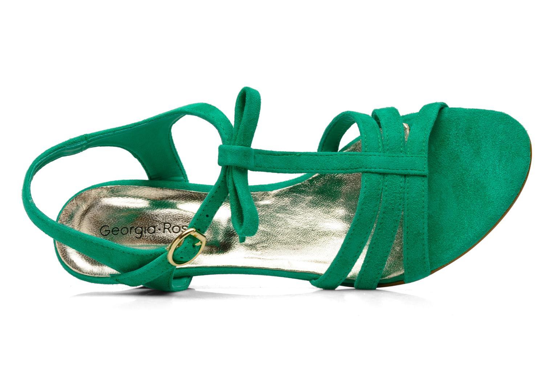 Sandales et nu-pieds Georgia Rose Luxy Vert vue gauche