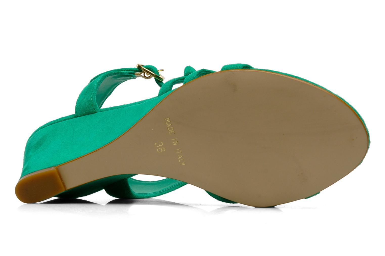 Sandales et nu-pieds Georgia Rose Luxy Vert vue haut