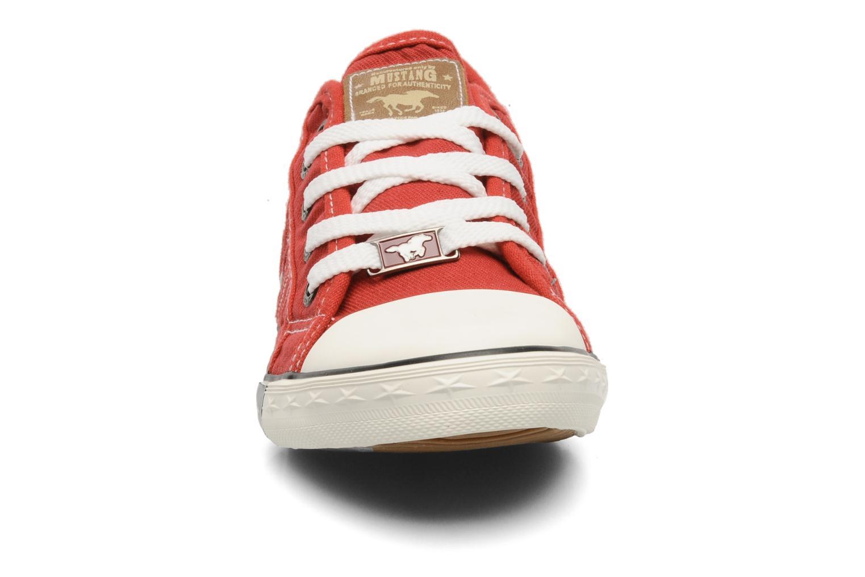 Baskets Mustang shoes Flaki Rouge vue portées chaussures