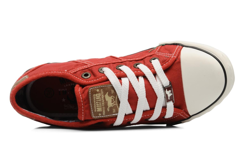 Baskets Mustang shoes Flaki Rouge vue gauche