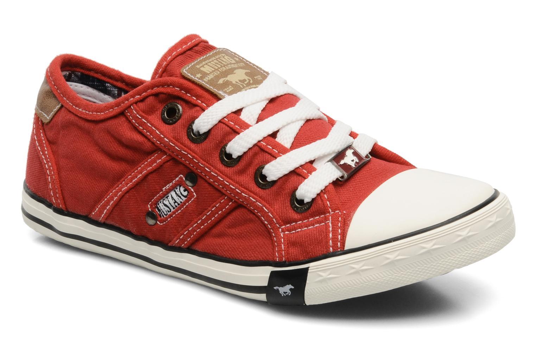Baskets Mustang shoes Flaki Rouge vue détail/paire