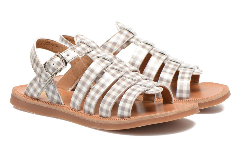 Sandals Pom d Api Plagette Strap Beige 3/4 view