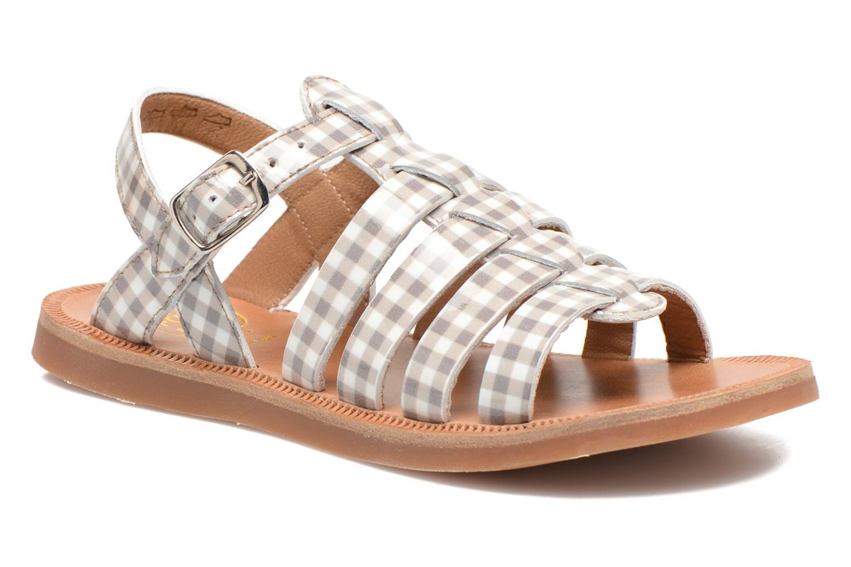 Sandales et nu-pieds Pom d Api Plagette Strap Beige vue détail/paire