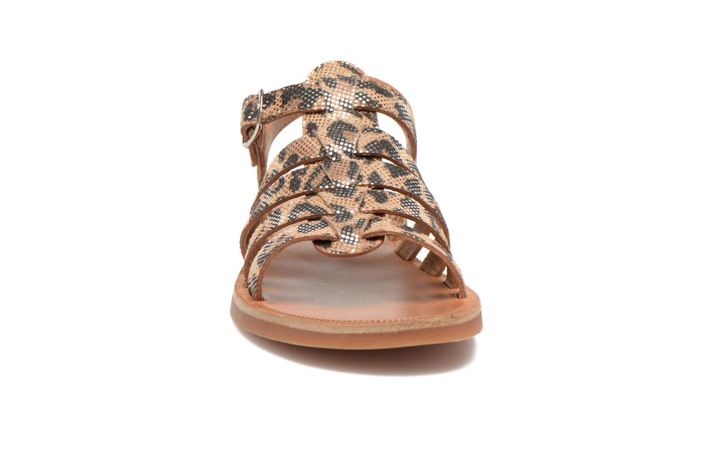 Plagette Strap Leopardo Metal/Nougat