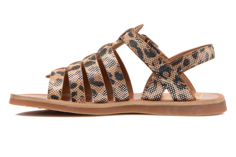 Sandals Pom d Api Plagette Strap Beige front view