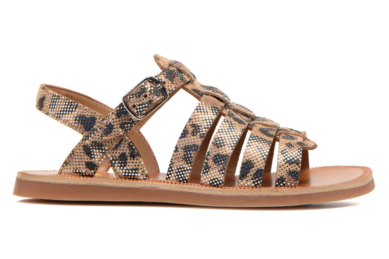 Sandales et nu-pieds Pom d Api Plagette Strap Beige vue derrière
