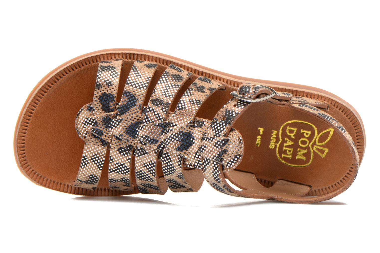Sandales et nu-pieds Pom d Api Plagette Strap Beige vue gauche