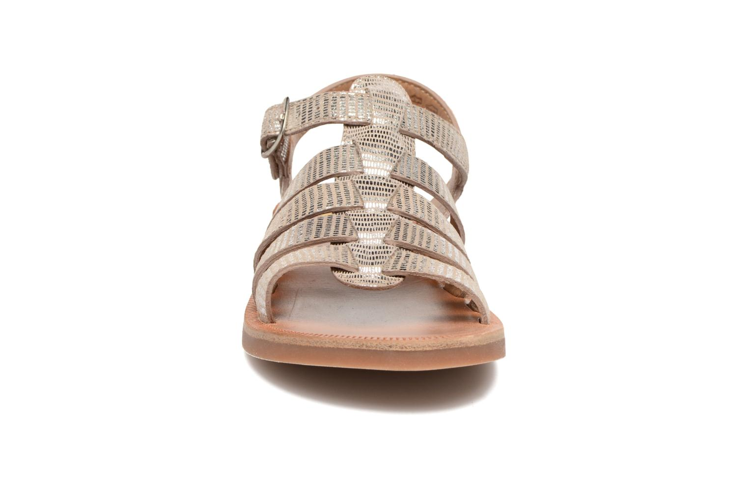 Sandals Pom d Api Plagette Strap Silver model view