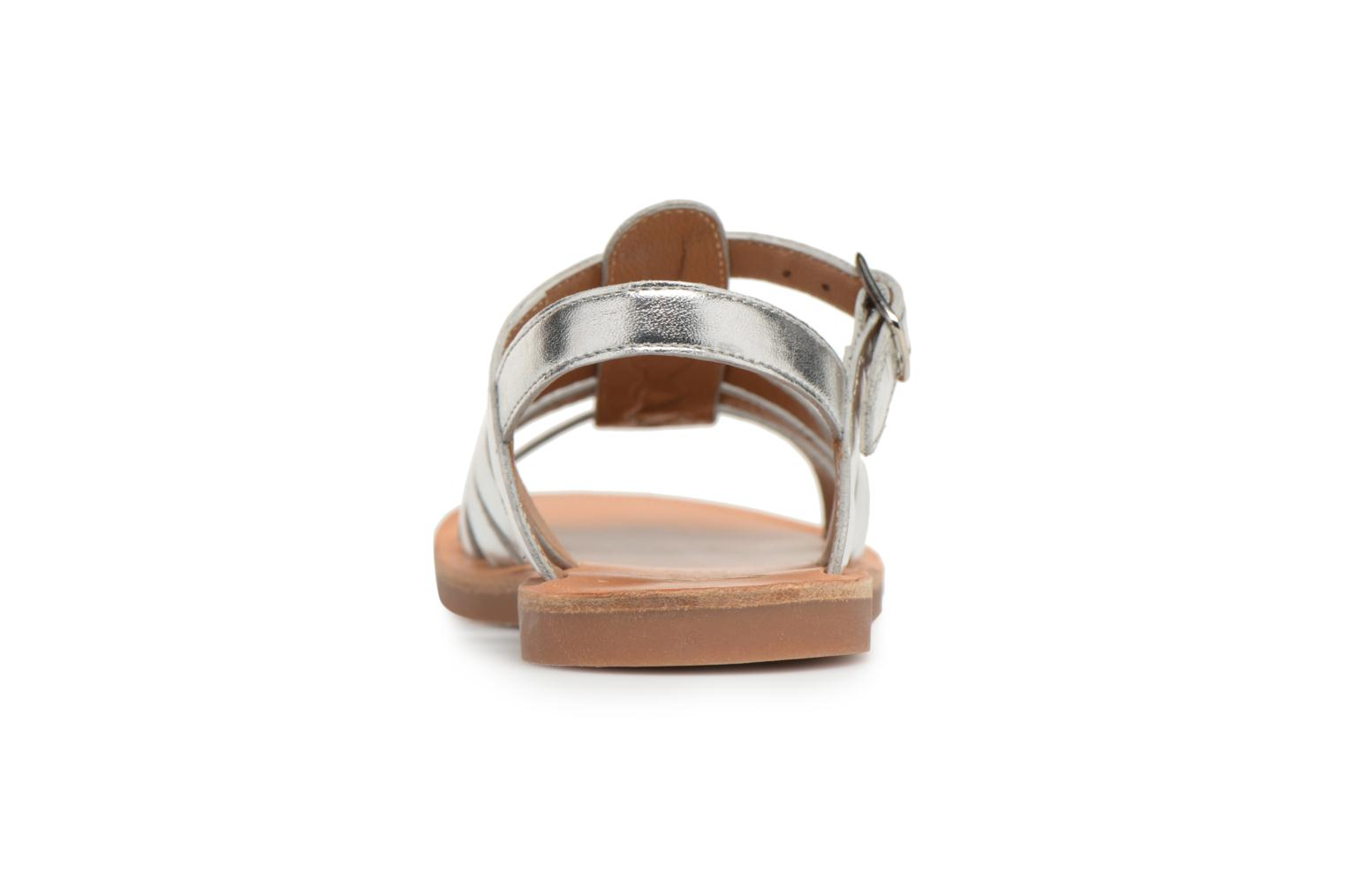 Sandals Pom d Api Plagette Strap Silver view from the right
