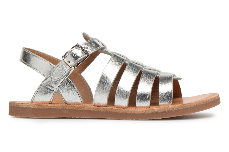 Sandales et nu-pieds Pom d Api Plagette Strap Argent vue derrière