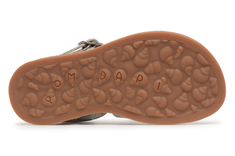 Sandales et nu-pieds Pom d Api Plagette Strap Argent vue haut