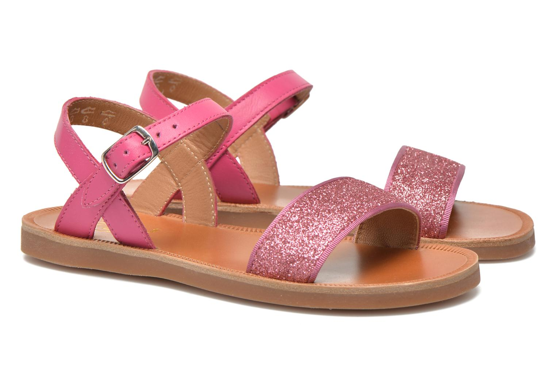 Sandals Pom d Api Plagette Buckle Tao Pink 3/4 view