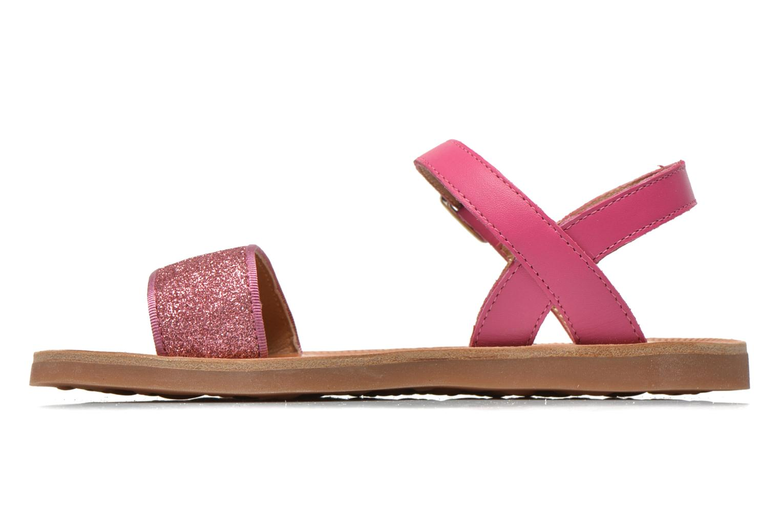 Sandals Pom d Api Plagette Buckle Tao Pink front view