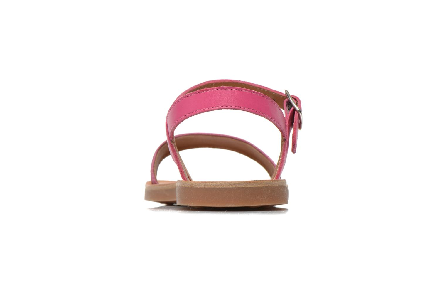 Sandals Pom d Api Plagette Buckle Tao Pink view from the right
