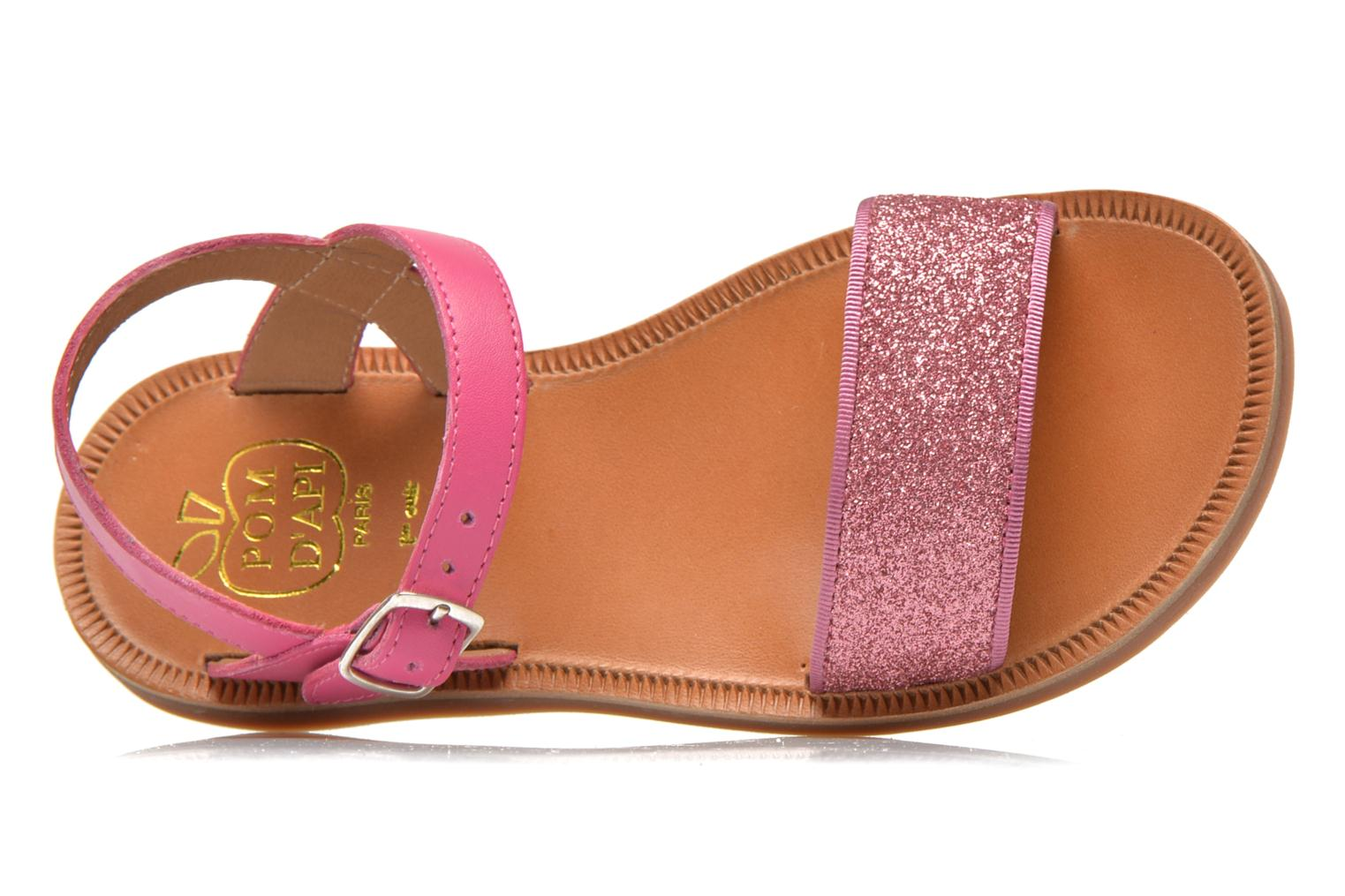 Sandals Pom d Api Plagette Buckle Tao Pink view from the left