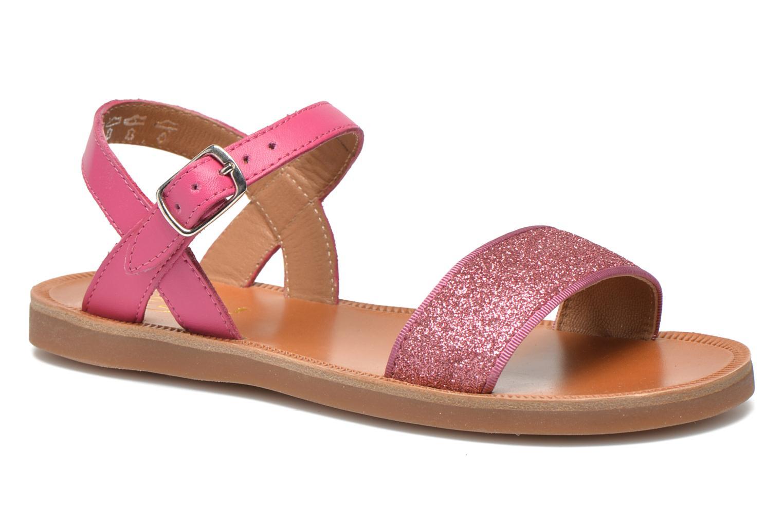 Sandales et nu-pieds Pom d Api Plagette Buckle Tao Rose vue détail/paire