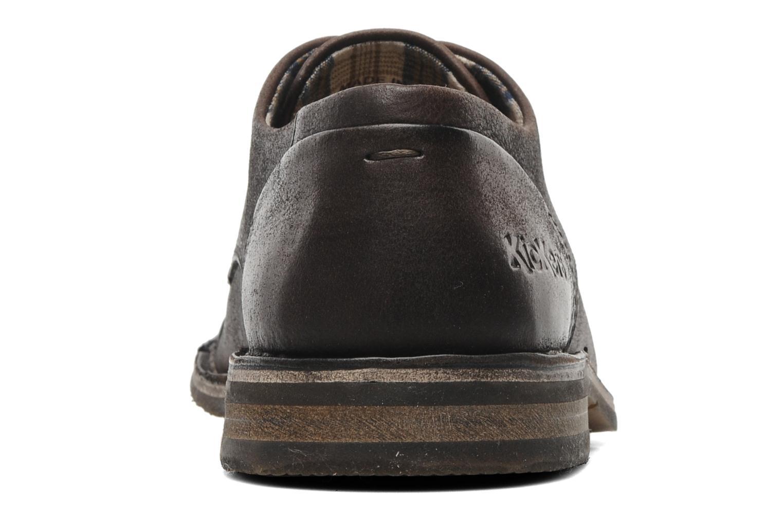 Chaussures à lacets Kickers Edgar Marron vue droite