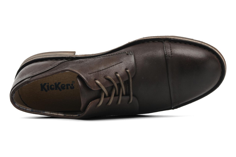 Chaussures à lacets Kickers Edgar Marron vue gauche