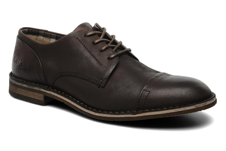 Chaussures à lacets Kickers Edgar Marron vue détail/paire