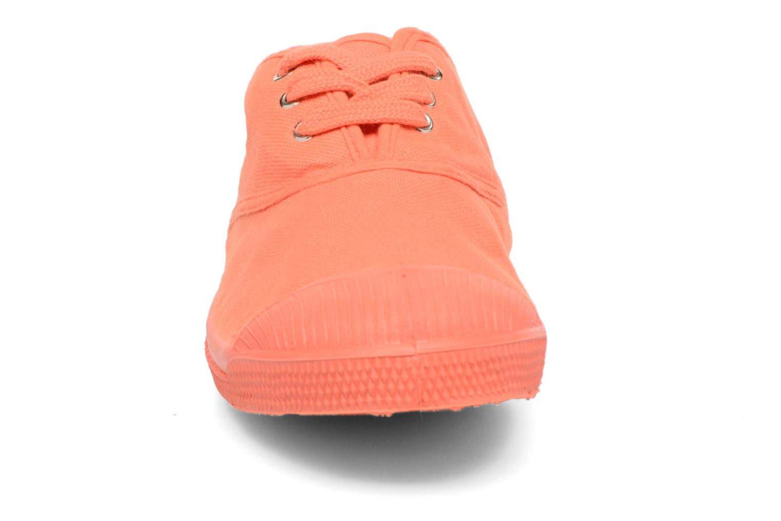Baskets Bensimon Tennis Colorsole E Orange vue portées chaussures
