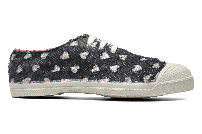 Sneakers Bensimon Tennis Glitter Love E Zwart achterkant