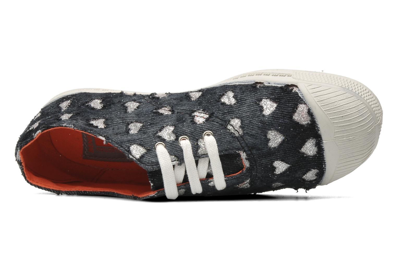 Sneakers Bensimon Tennis Glitter Love E Zwart links