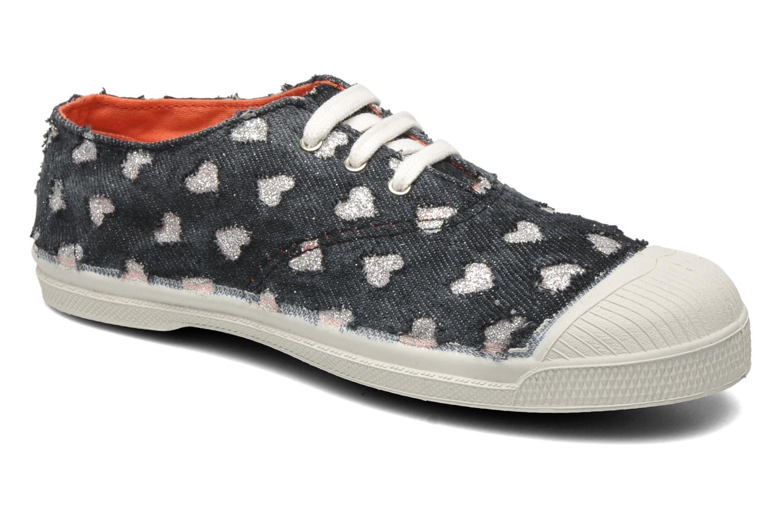 Sneakers Bensimon Tennis Glitter Love E Zwart detail