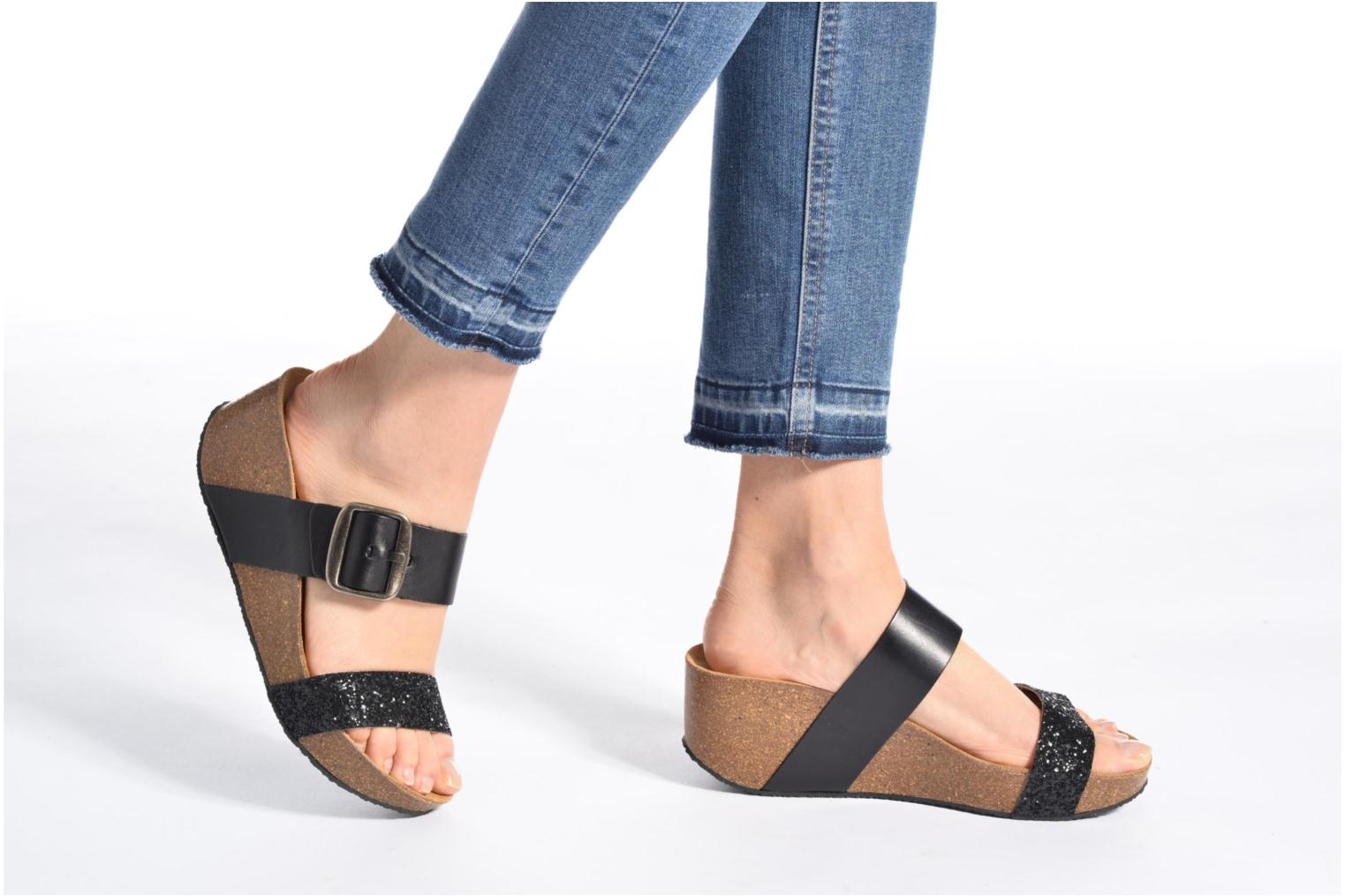 Mules & clogs Plakton So Rock Black view from underneath / model view