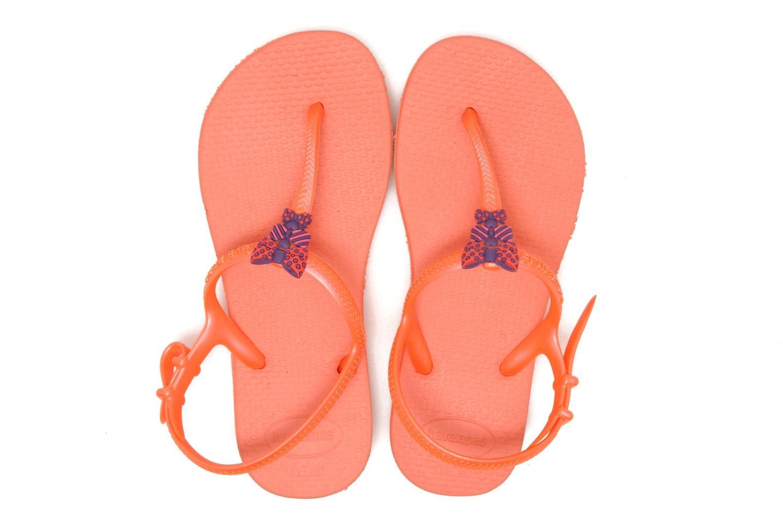 Sandals Havaianas Kids Freedom Orange 3/4 view
