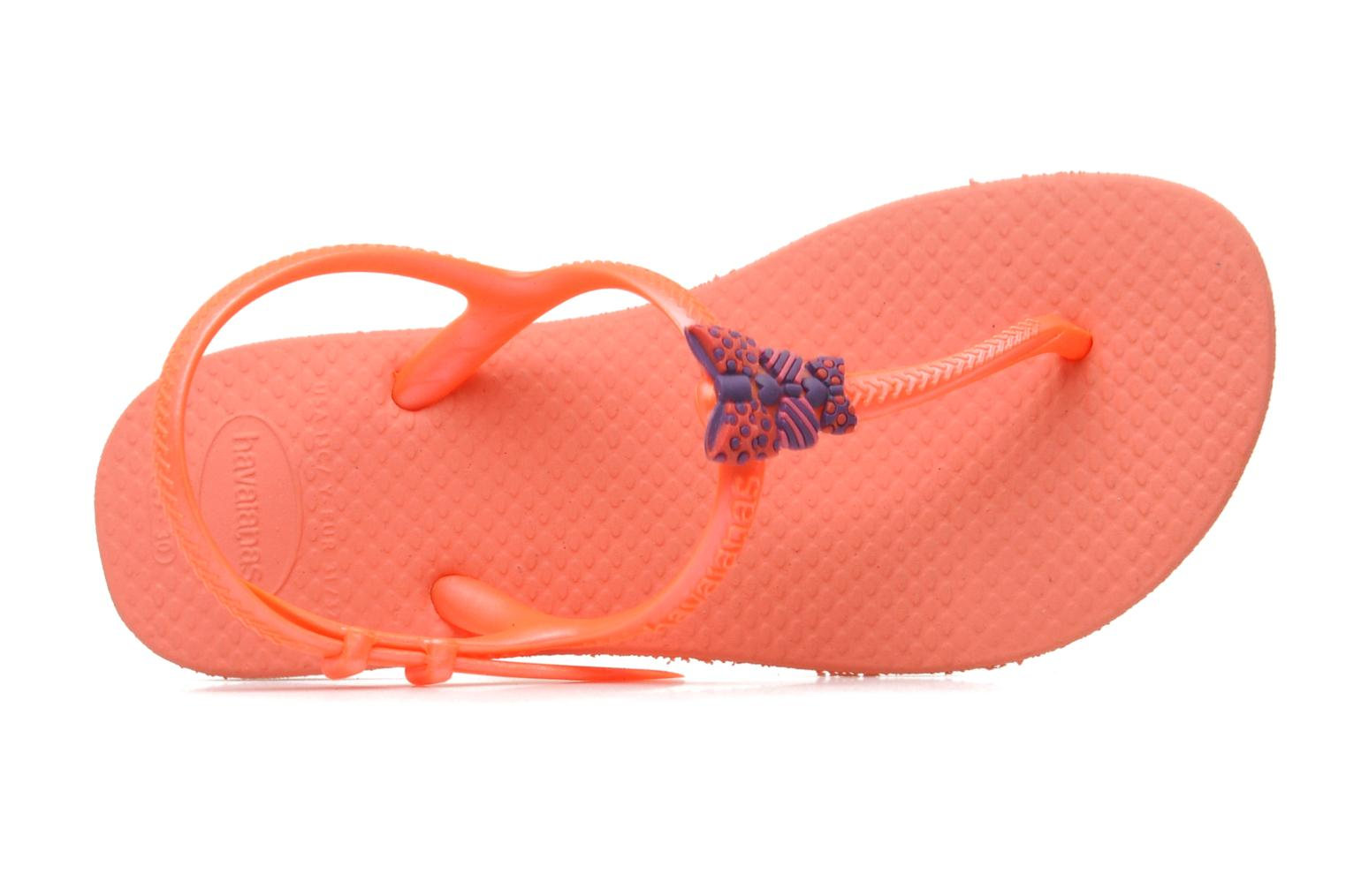 Sandals Havaianas Kids Freedom Orange view from the left