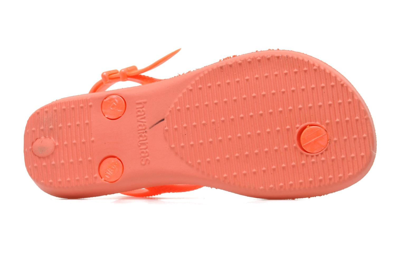 Sandals Havaianas Kids Freedom Orange view from above