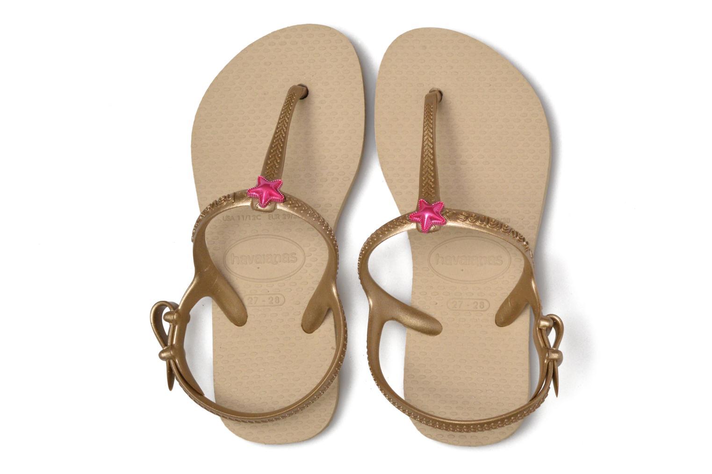 Sandals Havaianas Kids Freedom Beige 3/4 view