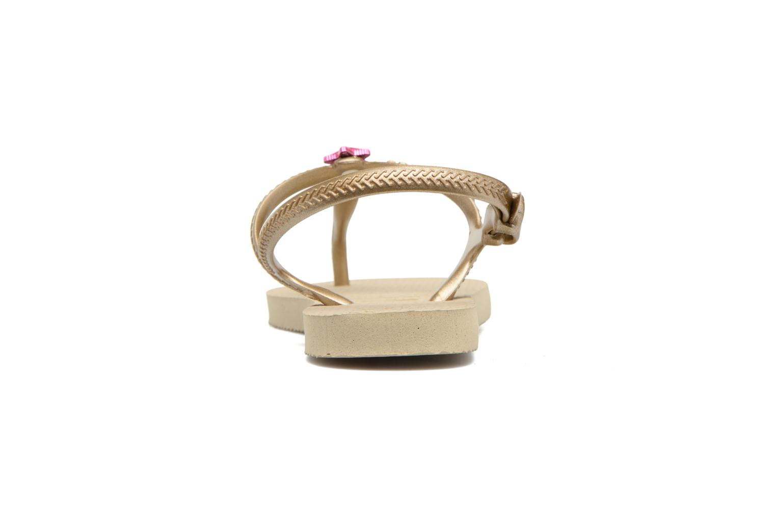 Sandals Havaianas Kids Freedom Beige view from the right