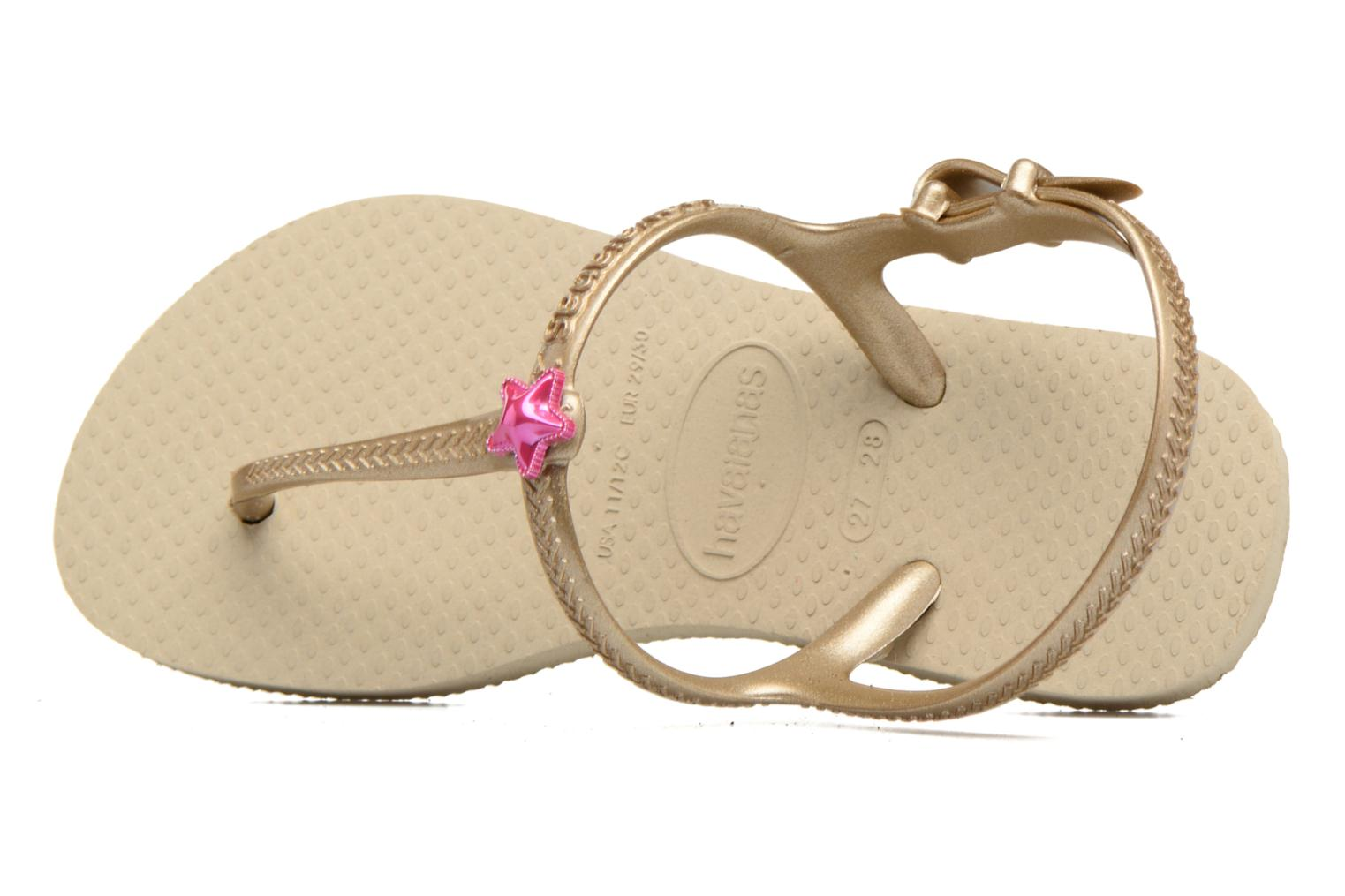 Sandals Havaianas Kids Freedom Beige view from the left