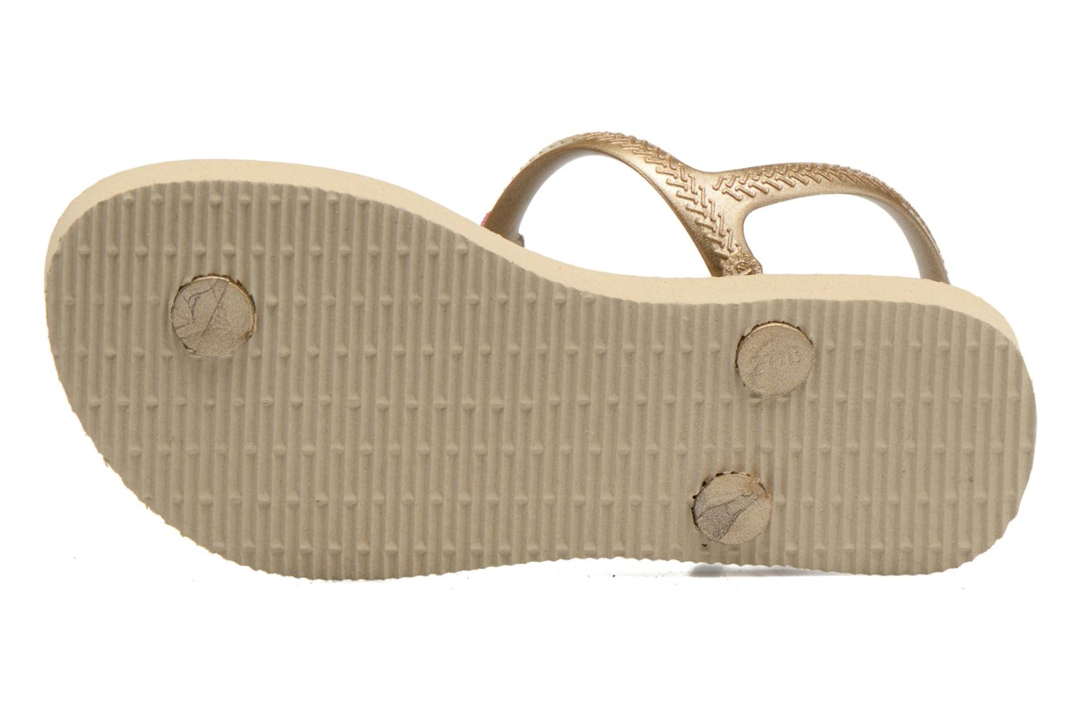 Sandals Havaianas Kids Freedom Beige view from above
