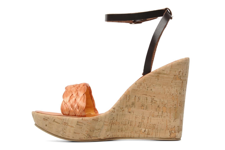 Sandales et nu-pieds U.S Polo Assn. Delicia Orange vue face