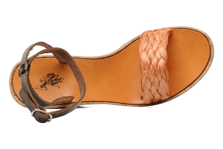 Sandales et nu-pieds U.S Polo Assn. Delicia Orange vue gauche