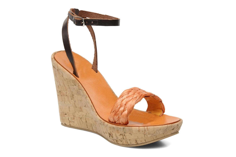 Sandales et nu-pieds U.S Polo Assn. Delicia Orange vue détail/paire