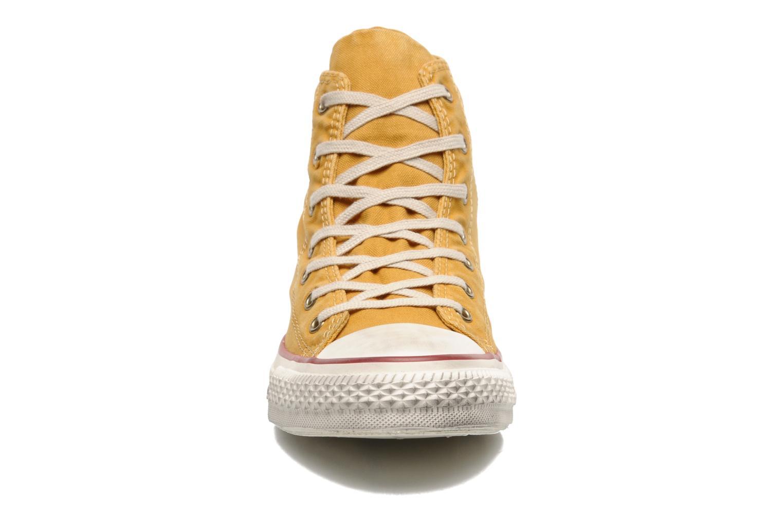 Sneaker Converse Chuck Taylor All Star Fashion Washed Hi W gelb schuhe getragen