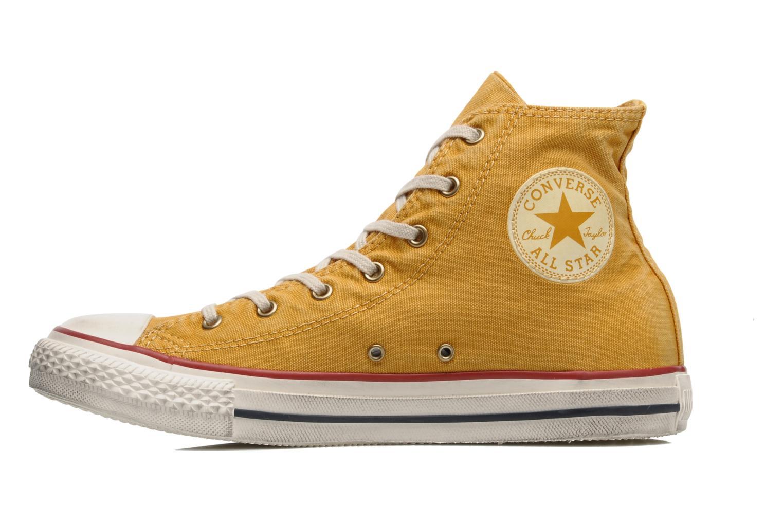 Sneaker Converse Chuck Taylor All Star Fashion Washed Hi W gelb ansicht von vorne
