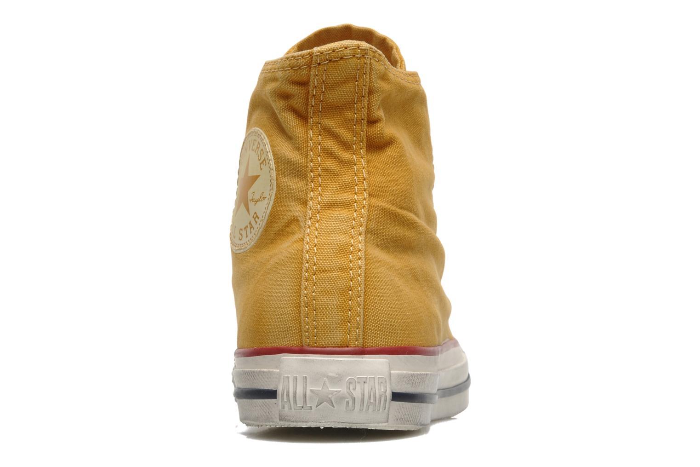 Sneaker Converse Chuck Taylor All Star Fashion Washed Hi W gelb ansicht von rechts