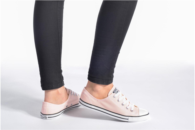 Sneaker Converse All Star Dainty Canvas Ox W grün ansicht von unten / tasche getragen