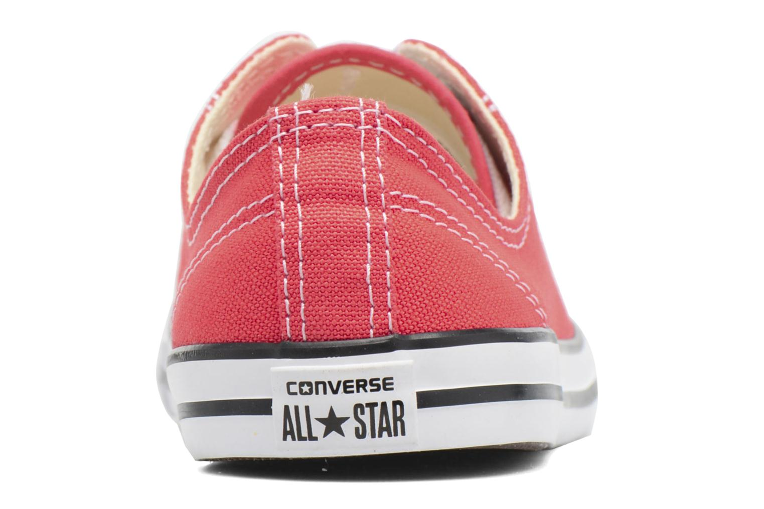 Trainers Converse All Star Dainty Canvas Ox W Red view from the right