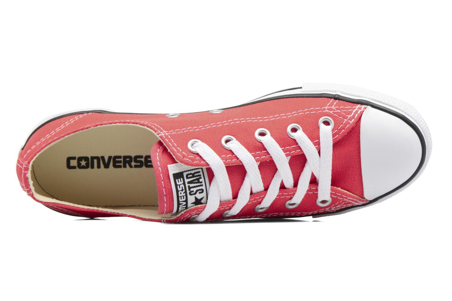 Trainers Converse All Star Dainty Canvas Ox W Red view from the left