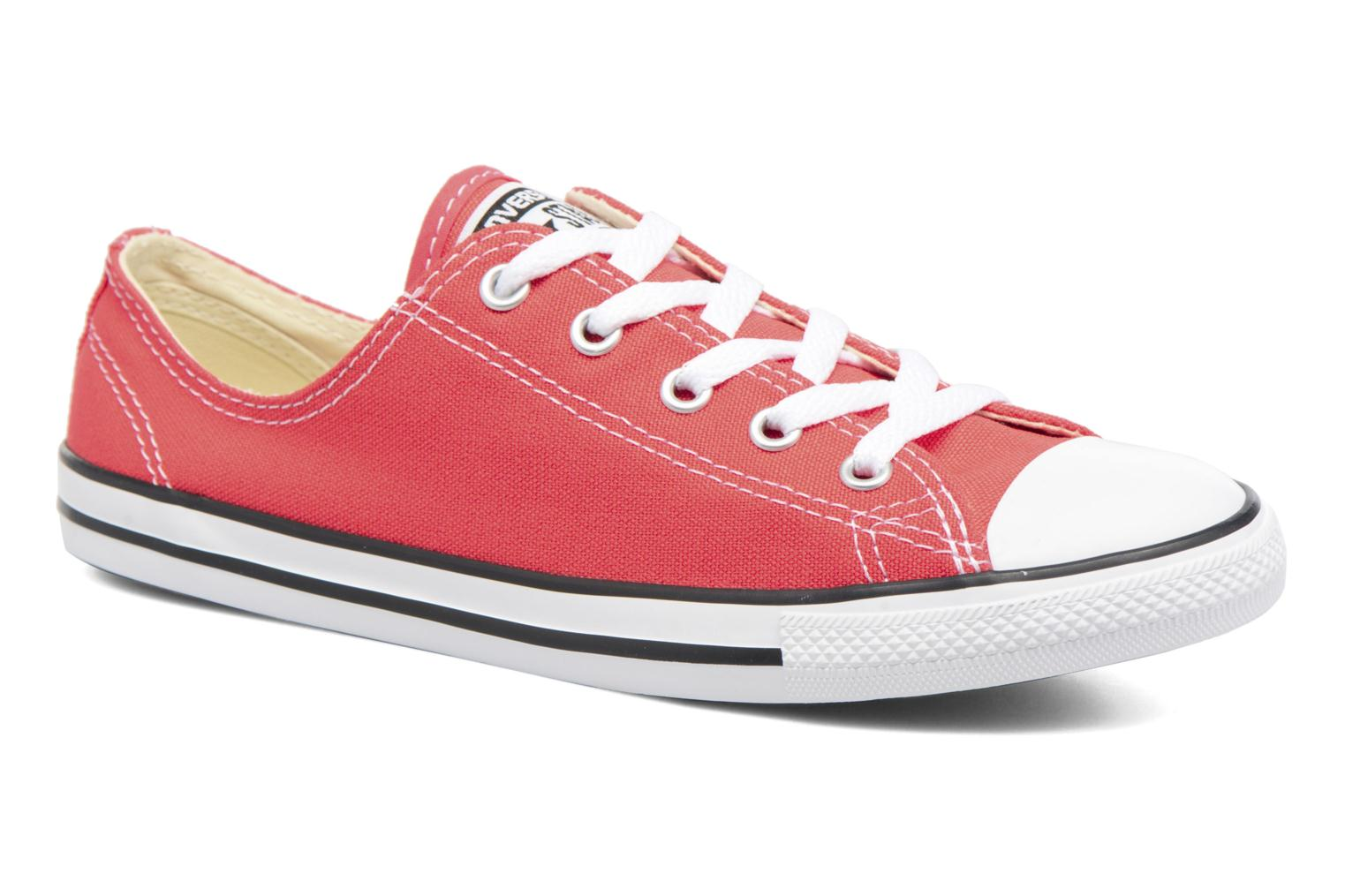 Baskets Converse All Star Dainty Canvas Ox W Rouge vue détail/paire
