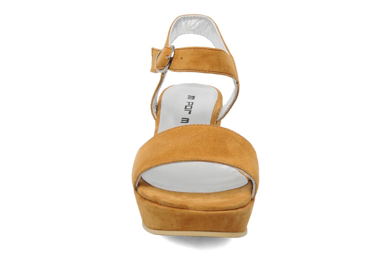 Sandales et nu-pieds M PAR M Derme Marron vue portées chaussures
